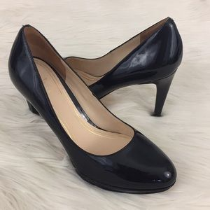 Cole Haan Nike Air Black Patent Leather Heels 8M